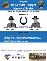 10-33 State Trooper Memorial Roping